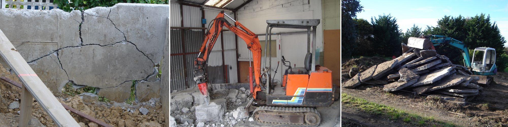 Concrete cutting services Wellington, Site demolition Lower Hutt
